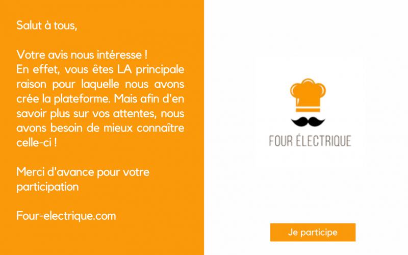 Votre avis nous intéresse | Four-electrique.com